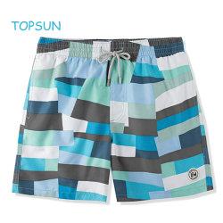 Homens e rapazes desgaste de vestuário casual no Verão de compressão de moda praia impresso curtos Pants