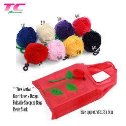 Sacchetto piegante di memoria dei sacchetti di acquisto di protezione dell'ambiente dei sacchetti di figura del fiore di promozione