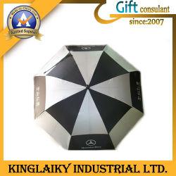Два слоя гольф складной зонтик с логотипом для продвижения по службе (КУ-006)
