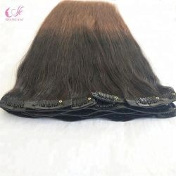 100% LuxuxRemy menschlicher preiswerter doppelter gezeichneter russisches Haar PU-nahtloser Klipp in der Haar-Extension