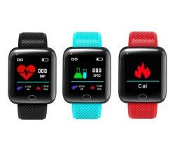 Bt呼出しタッチ画面IP67が付いている安いB19/116plusのスマートな腕時計の電話はスポーツのスマートな腕時計を防水する