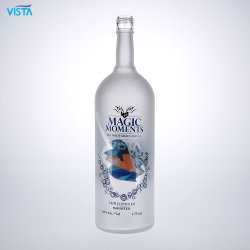 de Fles van het Glas van het Water van de Wisky van de Wodka van de Alcoholische drank van de Geest 375ml 500ml 750ml 1000ml met Cork GLB van de Schroefdop