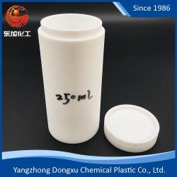Kundenspezifischer Plastik der Größen-PTFE/Teflon zerteilt Gefäß für das chemische verwendete Experiment