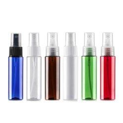 30ml 1 Oz garrafa plástica, verde, vermelho e branco de plástico laranja do cilindro de Pet Garrafa com fina névoa Pulverizador para o perfume orvalho puro