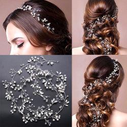 Sposa Handmade Pearl Hair Ribbon Headdress Wedding Dress Accessorio Capelli Nastro