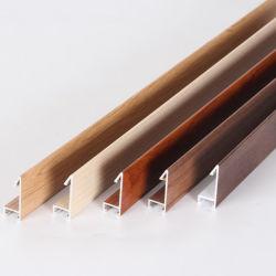Prix de gros d'usine de grain du bois en aluminium profilé de cadre photo