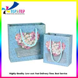 Настраиваемые 3D-Flower Зал для занятий фитнесом в форме сердца бумагу торговых центров магазинов упаковки подарочная печать свадебных Decorativ Сувенирный мешок