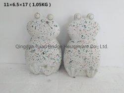 Acabamento de cristal de polimento Terrazzo Frog decoração de jardim