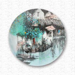 Cerámica pintada a mano en venta placas de recuerdos turísticos