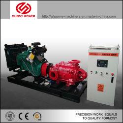 Motor diesel de 4 pulgadas de bomba de agua con bomba Jockey y tanque de presión