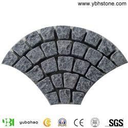 타오르거나 넘어지는 G654/G603 도와를 포장하거나 조경 정원 포장을%s 포장 기계 또는 차도 포석 또는 자연적인 화강암 자갈 또는 입방체 또는 입방 포석/포장 기계 돌을 놓기