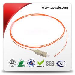 Jaqueta LSZH duplex SC-LC fiber optic patch em espiral para telecomunicação da rede de acesso óptico