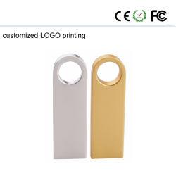 Freie Platte USB-grelles Daumen-Laufwerk des Firmenzeichen-GoldDtse9 des Metallu