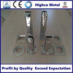 Espelho de aço inoxidável e vidro Varanda Acetinado Titular/suporte de fixação de vidro/vidro encaixes do Corrimão