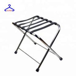 Muestra gratis personalizado pequeño MOQ plegable cromado/metal/acero inoxidable portaequipajes/soporte