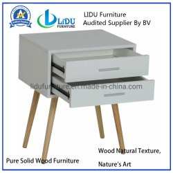 Chambre à coucher Décoration chevet en bois Meubles de chevet Table tiroir de rangement
