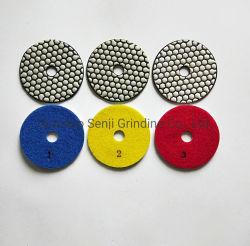 Paso 3 de alta calidad de almohadilla de pulir el Diamante en seco para la piedra y hormigón