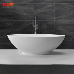 Piccole vasche di bagno d'angolo di pietra artificiali dell'acquazzone della stanza da bagno