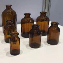Flacon en verre moulé de couleur ambre