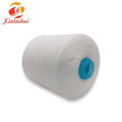 Ruwe Wit van het Garen van de Polyester van 100% het Ring Gesponnen 40s2