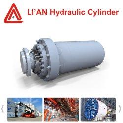 Stapel-fahrender Lastkahn-Öl-teleskopischer Hydrozylinder des 12000mm Anfall-20MPa