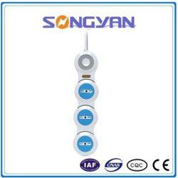 Interruptor único Protector Flexible enchufe del cable de extensión de toma de corriente (PT3B-)