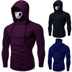 Plus Bovenkanten /PT van het Sweatshirt Hoodie van de Bovenkanten van de Trui van de Kleur van de Schedel van het Masker van Moletom van de Mensen van het Sweatshirt van Hoodies van de Kleren van de Grootte de Zuivere Losse