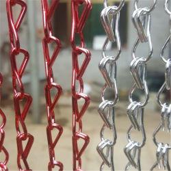 По линии торговых висящих алюминиевой тяги цепь надувной шторки