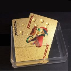 Cartes à jouer d'or 24k