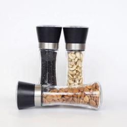 Bottiglie di vetro di plastica del pepe del dispositivo caldo con la smerigliatrice