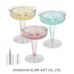 Champanhe flautas descartáveis copos de cocktails de martini copos de vinho copos de casamento capas de terceiros