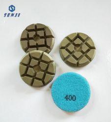 Hybride de 3 pouces Bond plaquettes polissage de diamants pour le polissage de béton sec humide Terrazzo sol en pierre de meule de résine