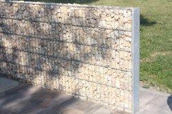 Jardin double clôture métallique de panier de gabions de pierre le grillage de séparation