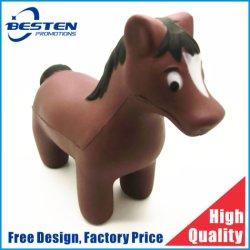 Goedkope PU Paard Shaped Stress Ball Animal PU Anti Ball Stress Ball Toys High Quality Squeeze Toys