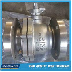Aço inoxidável API CF8/CF8m/CF3/CF3M Válvula de Esfera Industrial