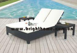 屋外の家具のビーチチェアのChaiseのラウンジの日曜日のLoungerの寝台兼用の長椅子(BG-MT12)