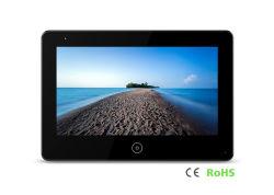 Monitor de ecrã táctil de 7 Polegadas Porta de vídeo com função de porta de desbloqueio de telefone ligar 4 Fios/cabo Cat5