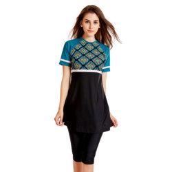 이슬람 수영복 여성용 반팔 수영복 이슬람 민족 스타일의 옷 수영복 인쇄