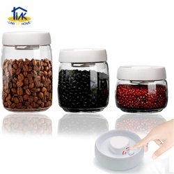 El CNR04002wt cierre hermético de vidrio para almacenamiento de alimentos de café Contenedor de la bomba de vacío