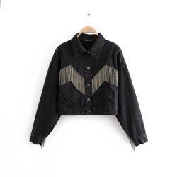 2020の方法女性のジーンズのジャケットの上のChaquetas Mujerに着せている女性のための長い袖のデニムのコート