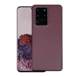 Adaptado de carbono Fibra de Aramida de lujo para el caso del teléfono Samsung Teléfono Móvil de la nota 20 cubrir