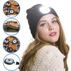 Nouvelle LED éclairés Beanie Cap Hip Hop Hommes Femmes Knit hat Camping de chasse de l'exécution Hat cadeaux de Noël pour les hommes et femmes Dropship
