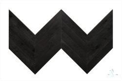 Piso em madeira de cor escura/ Chevron Design/Engineered Wood Flooring