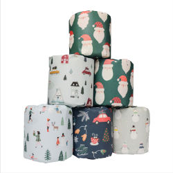 Leicht lösliche weiche Bambus-Toilettenpapier anpassen Logo OEM Factory Sales Wrapping Printed Wholesale for Packaging FSC/FDA Full Certificates Suppler Gewebe