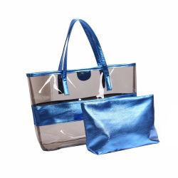Nuova borsa trasparente, borsa in plastica da spiaggia, borsa caramella, borsa a spalla