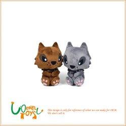 공장 주문 대중적인 채워진 사랑스러운 늑대 견면 벨벳 장난감