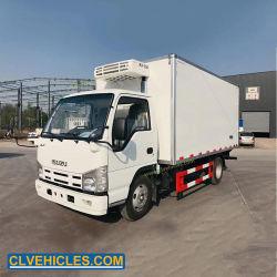 10 toneladas de carne de caminhões refrigerados transporte caminhões de refrigeração motor Isuzu