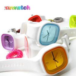 2012 горячие дешевые моды парикмахерский салон рекламных силиконового герметика кварцевые часы