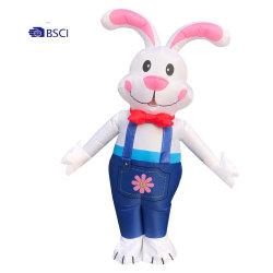 팽창식 이스터 버니 복장 팽창식 PVC 토끼