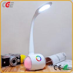 무선 충전기로 파란 이 스피커 밤 빛 침대 곁 LED 테이블 램프를 비용을 부과하는 LED 연구 결과 빛 새로운 디자인